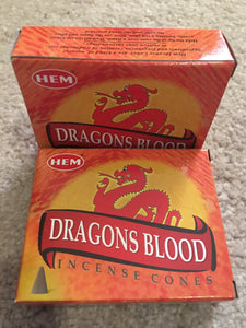 Incense Cones Dragons Blood