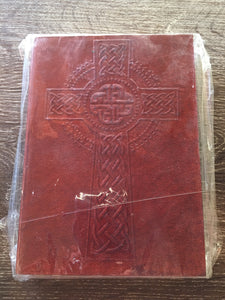 Leather Celtic Cross Journal large