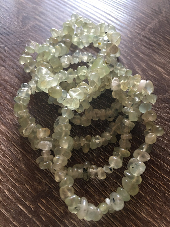 Jewelry Prehnite Crystal Chip Bracelet