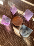 Rainbow Fluorite Natural Octahedrons Medium