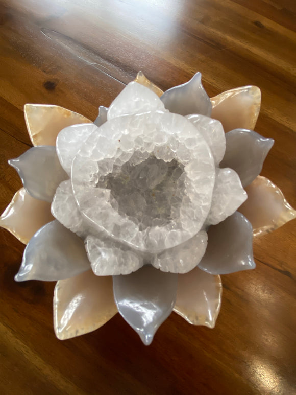Agate Lotus Flower