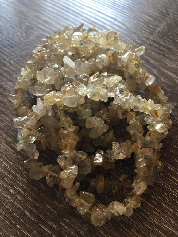 Jewelry Citrine Crystal Chip Bracelets