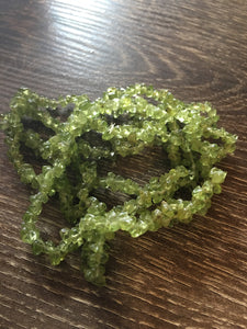 Jewelry Peridot Crystal Chip Bracelets