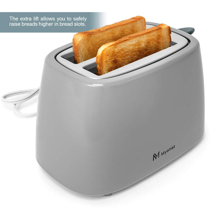 Myonaz  2 - Slice Toaster, Electric Stainless Steel Toasters