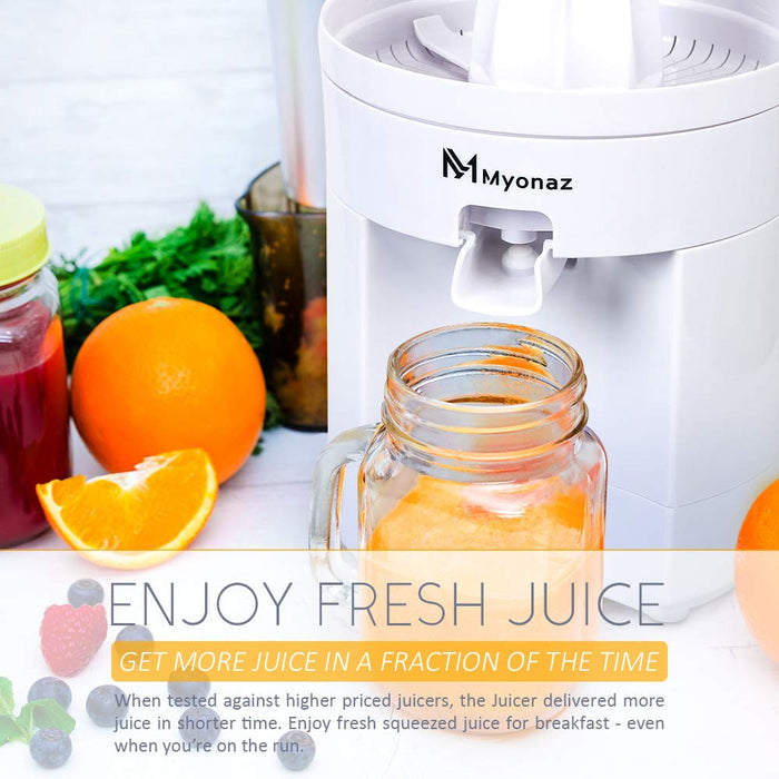 MYONAZ Electric Citrus Squeezer for Fresh Lemon/Orange Juice