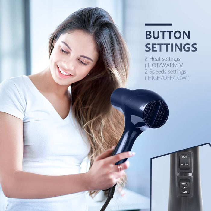 MYONAZ Hair Dryer Professional with Straightening Comb and Air Concentrator