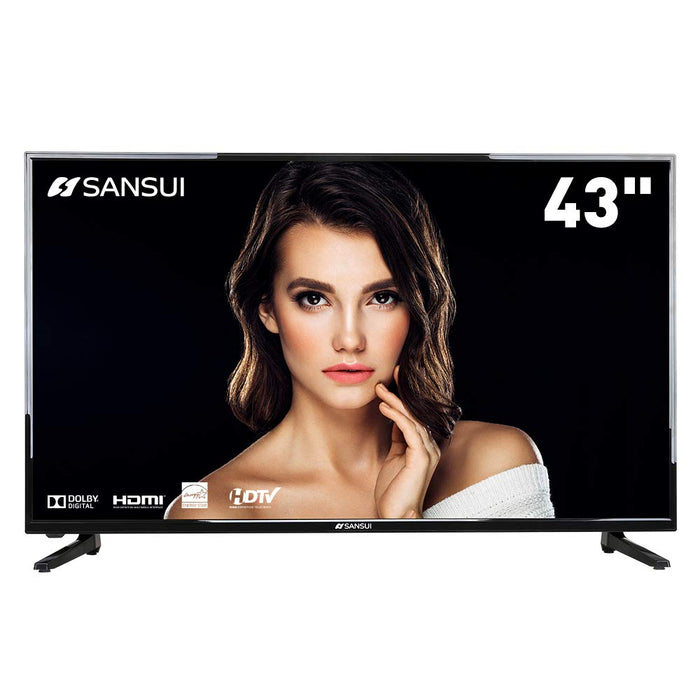 SANSUI TV LED Televisions 43'' 1080P TV with Flat Screen TV