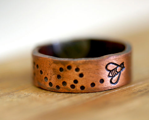 Bumble Bee Ring Copper (S0173)