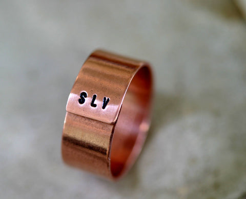 Initials Band Ring (S0181)