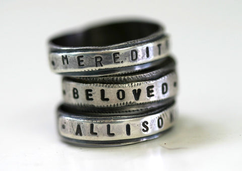 Sterling Silver Personalized Ring (S0189)