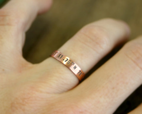 Copper band ring (S0187)