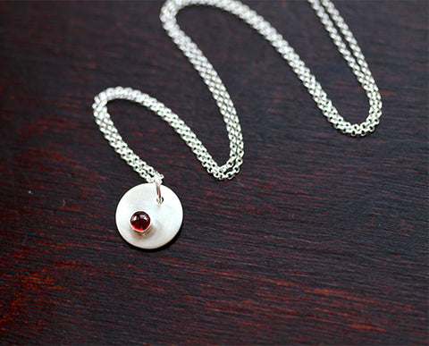 Birthstone Personalized Pendant Necklace (S0343)