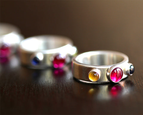 Birthstone Trio Ring (S0346)