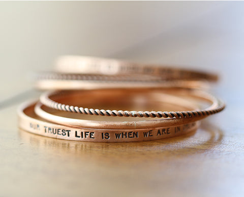 Copper Trio Bangle (S0363)