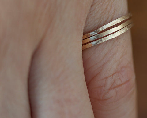 Dainty Gold Filled Stack Rings  S0394