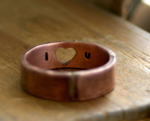 Heart Ring with Secret Message (S0198)