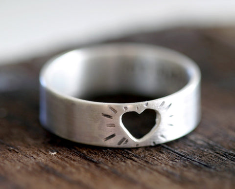 Heart Ring in sterling silver (S0199)