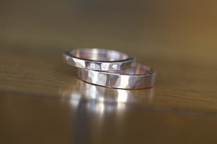 Diamond wedding band Set (S0332)