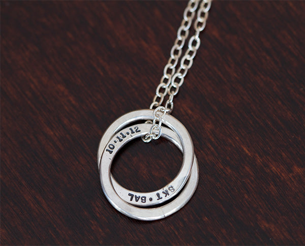 ring personalized mynamenecklace necklace product sterling jumbo rings silver