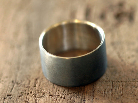 Mens sterling silver wedding ring (S0215)