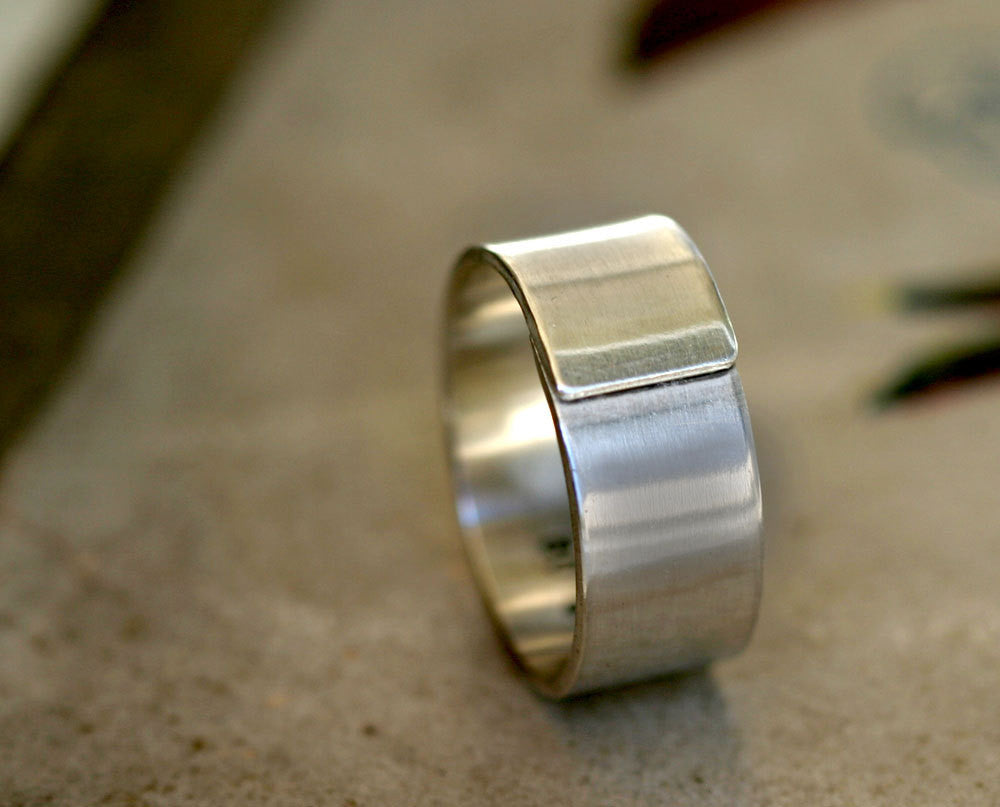 modern mens wedding band sterling silver wrapped ring s modern wedding rings Modern men s wedding band sterling silver wrapped ring S