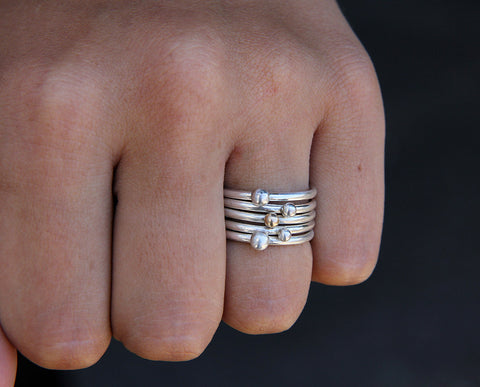 Pebble Ring Set of 5 (S0294)