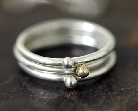 Pebble Ring Set of 3 (S0320)