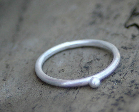 Pebble ring sterling silver (S0228)