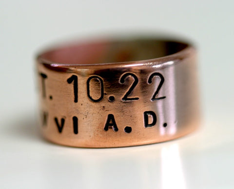 Established Band Ring Commemorative Date (S0289)