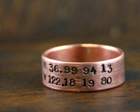 Copper Ring Personalized (S0230)