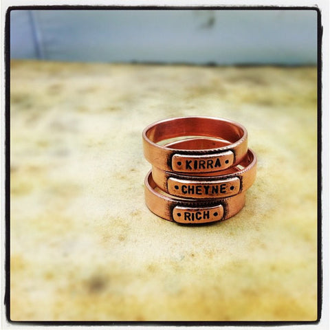 Personalized Copper Band Ring (S0304)