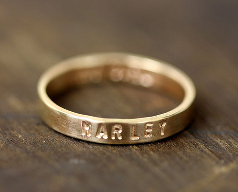 Personalized gold band (S0229)