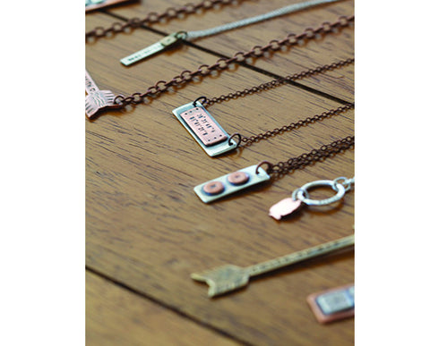 Dainty Personalized Sterling Silver Tag Necklace S0485