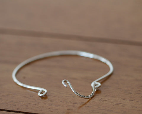 Sterling Silver Personalized Wire Bangle (S0602)