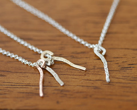 Dainty Personalized Dangle Necklace Sterling Silver (S0604)