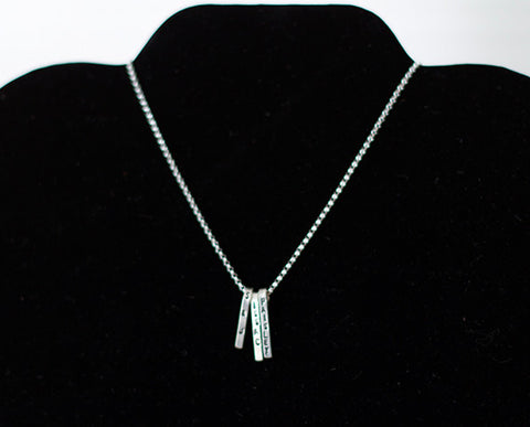 Dangling Trio Sterling Silver Necklace (S0607)