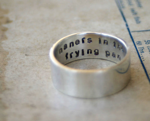 Silver Secret Message Ring (S0250)