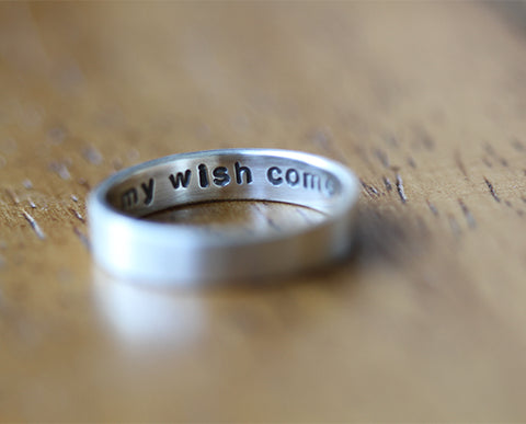 Sterling Silver Secret Message Ring (S0335)