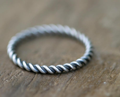 Twisted Wire Ring - Set of Three (S0267a)