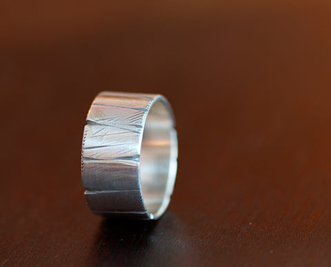 Sterling Silver Tree Bark Ring (S0371)