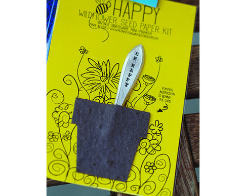 Bee Happy Wildflower Seed Paper Kit (S0426)
