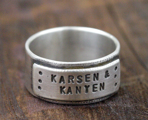 Personalized Father's Day Ring (S0234)