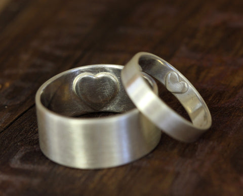 Secret Heart Ring Wedding Set