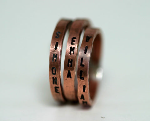 Stacking Inscription Ring Copper (S0258)