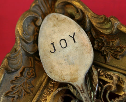 Joy Spoon Marker Vintage Stamped Silverware