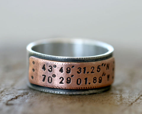Latitude Longitude Ring (S0210)