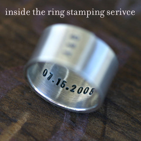 Inside stamping of rings