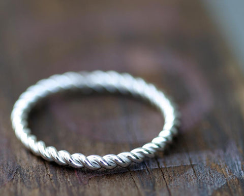 Sterling Silver Twisted Wire Ring (S0267)