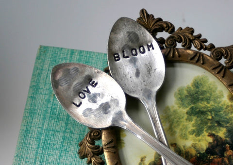 Love and Bloom Vintage Silverware Garden Marker