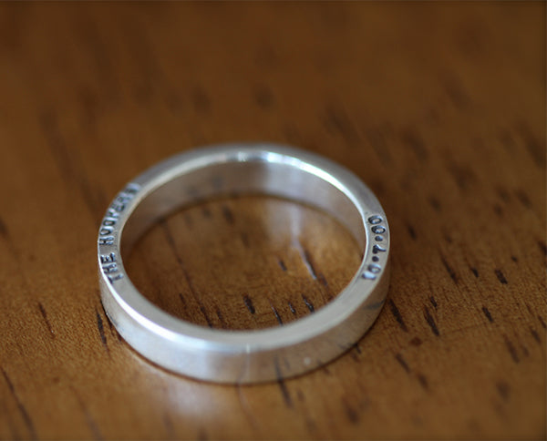 Custom Personalized Men's Wedding Band (S0334)